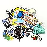 StillCool® 200pcs shifashionshop Aufkleber für Skateboard Snowboard-Weinlese-Vinylaufkleber-Graffiti Laptop Gepäck Auto-Fahrrad-Decals mischen Lot Art- und Weisekühler (200pcs)