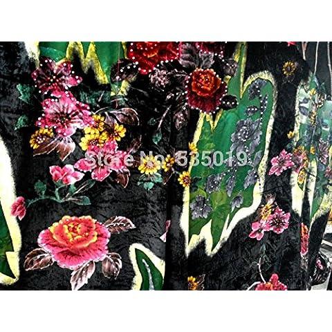 Nuovo cotone africano della cera tessuto di seta per l'artigianato di qualità velluto di seta tende in tessuto fiori di alta con all'ingrosso artificiale diamante