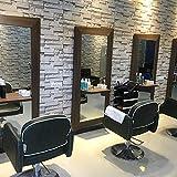 HUANGYAHUI Moderno Minimalista Brick Parrucchiere, 3D Solido Muro, Muro Di Sfondo, Brick, Retro, Signore, Un Negozio Di Abbigliamento, Barbiere Carta Da Parati,Grigio Scuro