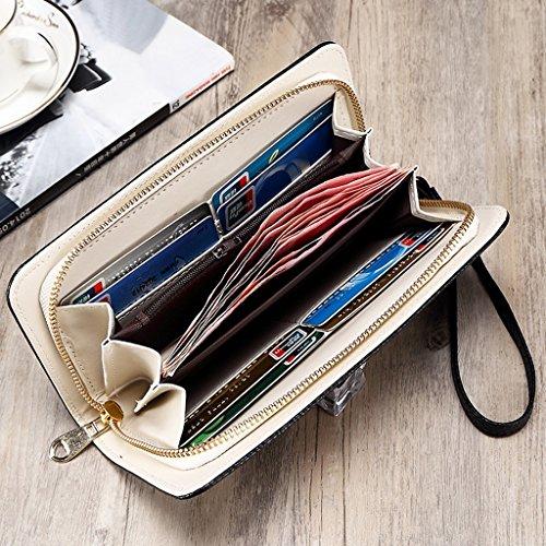 Portafoglio Femminile Lungo Tratto Di Zipper borsa Student mini telefono pacchetto multifunzione carte fatture Borsa Cartella ( colore : Rosy Red ) Rosy Red