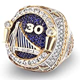 WANZIJING Anillo Masculino, Golden State Warriors Championship Ring 2018 Curry Players Replica Basketball Ring para La Colección Boyfriend,9