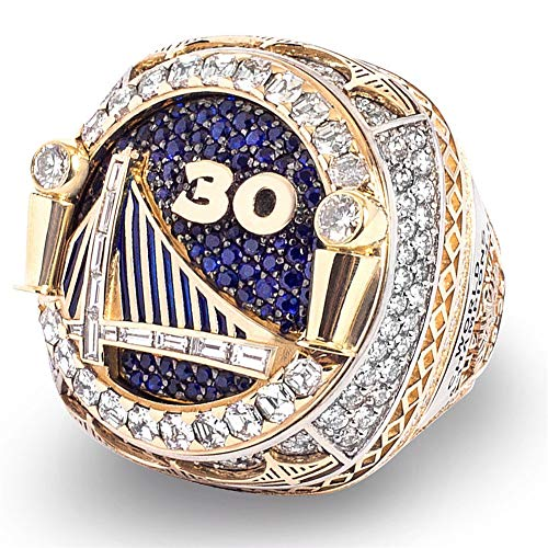 Luxuon RingeMännlicher Ring, Golden State Warriors Championship Ring 2018 Curry-Spieler-Replik-Basketballring Für Freund-Sammlung,9