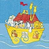 20 Servietten Noah´s Ark - Arche Noah / Taufe / Kinder / Kindergeburtstag 33x33cm