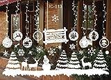 Warmcasa Adesivi Natalizi, Adesivi Murali Stelle Nevi Puntini Merry Christmas DIY Stickers Decorazione Vetrina Wallpaper Fiocco di Neve Pupazzo di Neve e Alce