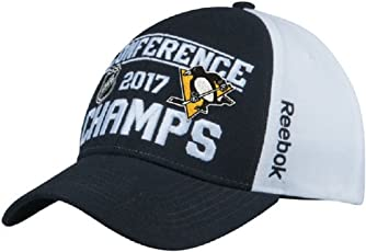 Men Pittsburgh Penguins Reebok 2017 Eastern Conference Champions Locker Room Adjustable Hat