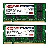 Komputerbay J19 Macmemory Apple Arbeitsspeicher 4GB Kit (2x 2GB Module, PC2-5300, 667MHz, 200-polig) DDR2-SODIMM für Apple iMac und Macbook Speicher