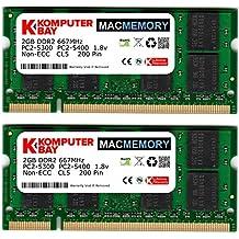 Komputerbay MacMemory - Kit de memoria RAM (2 x 2 GB, 667 MHz, DDR2, PC2-5300)