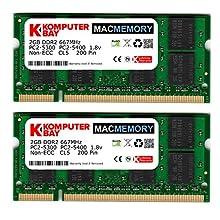 Komputerbay MACMEMORY 4 Go (2x 2 Go) 667MHz SODIMM mémoire d'ordinateur portable pour Apple