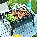 DingLong Ofen/Grill BBQ Tragbare Faltbar Grillstellen, Grill Chrome Plated Holzkohle für Terrasse Gartenparty GroßE und Kleine GrößEn