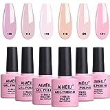AIMEILI gel nagellack Set Blötlägg av UV LED Gel lack flerfärg/mixad färg/ombo färg uppsättning av 6 st x 10 ml – kit 31
