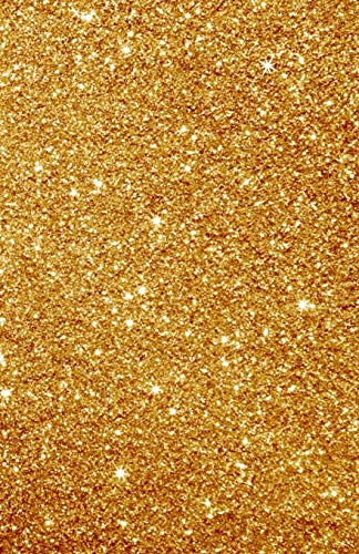 Glitter Notebook Gold: Dot Grid Faux Glitter Book, Dotted Journal to write in -