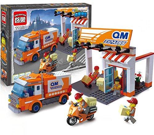 Ingenious Toys QM express corriere pacco consegna / 337pz. compatibile con elementi costitutivi #1119