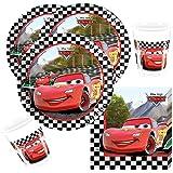 36-teiliges Disney PIXAR Party-Set Cars Formula - Teller Becher Servietten für 8 Kinder