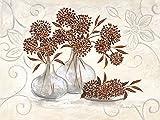 Keilrahmen-Bild - Claudia Ancilotti: Graceful 60 x 80 cm Leinwandbild Stillleben mit Vasen Blumen Landhaus