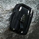 ivencase® Taktische Gürteltasche Molle EDC Beutel Militär für Wandern, Outdoor-Camping und Radfahren mit Aluminiumkarabiner - Schwarz -