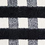 Fabulous Fabrics Mantelstoff, weich – schwarz/Weiss —
