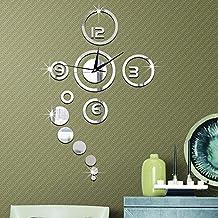 Forepin® 3D Pegatinas Adhesivo Reloj De Pared Efecto De Espejo Acrílico Reloj pare Home Decoración (Batería No Incluida)