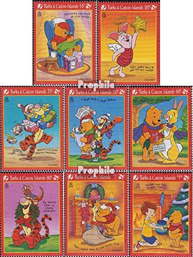 Prophila Collection Turks- und Caicos-Inseln 1346-1353 (kompl.Ausg.) 1996 Walt Disn.s Winnie The Pooh (Briefmarken für Sammler) Comics (Winnie The Pooh Sammler)