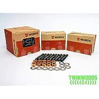 Shiwaki 4PCS//Set M8X1.25 Stud /& Flange Nuts 42mm For T25 T28 Turbo Exhaust System
