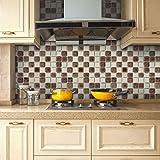 JY ART WAYZ Fliesenaufkleber Dekorative Wandgestaltung mit Fliesenaufklebern für Küche und Bad, Deko-Fliesenfolie für Küche u. CZ028, 5, 20cm*5m