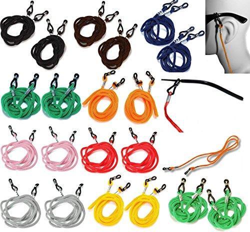 occhiali fermo cordino corda spettacolo cinghia, 63,5 centimetri (confezione da 10 Pezzi, 10 colori) // Eyeglasses Retainer Lanyard Strap Spectacle Cord, 25 inch or 63.5 cm (Pack of 10 pcs, 10 Colors) - Cinghia Di Fermo