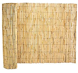 Papillon Thick Reed Bamboo Style Natural Garden Fence Screening Roll Privacy Border Wind & Sun Protection 4.0m x 2.0m (13ft 1in x 6ft 7in)