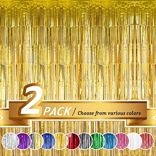 Tenda a frangia, decorazione per matrimoni, compleanni ed eventi speciali Gold