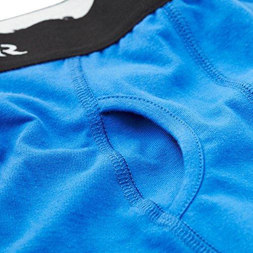 STÓR Herren Bambus Boxershorts - seidenweiche, atmungsaktive Unterhosen für Männer Blau
