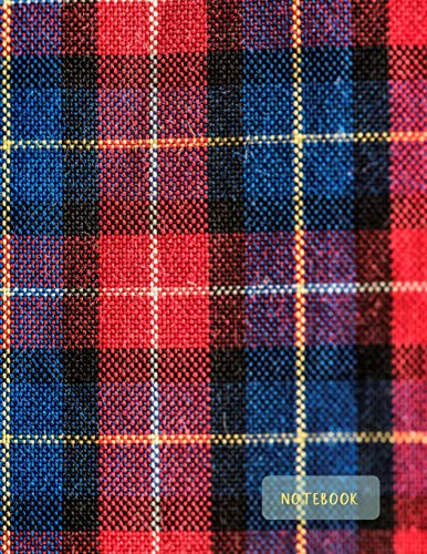Notebook: Large format (letter size). 120 Lined pages. Wide ruled. Ideal for School notes, Journaling, Hand lettering or Calligraphy practice. Perfect ... (Scottish tartan, breacan. Soft matte cover). Square Format Matte