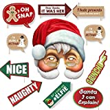 Fancy Steps christmas xmas party props photo booth(11 pcs)