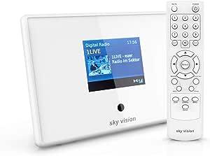 Sky Vision Dab 201 W Bluetooth Adapter Digital Radio Adapter Zur Dab Nachrüstung Dab Adapter Stereoanlage Und Hifi Radio Receiver Ukw Dab Mit Radiowecker Und Lcd Display Weiß Heimkino Tv Video