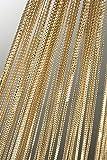 Fadenvorhang Fadengardine mit Lurex veredelt Metallic Effekt Gardine Vorhang gold 140x250 cm