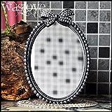 Espejos De Pie Decorativos Antiguo Baño Vintage Oval Arco con Cuentas
