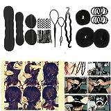 Haar Clips Friseur Stick Dutt Styling Foam Donut Frauen Form Haarverlängerung French Maker Braid Braut Werkzeug Kits