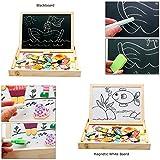 Babyhugs Kids Wooden Toy Magnetic Double Sided Drawing Whiteboard Blackboard Art Easel - Colourful Zodiac Characters