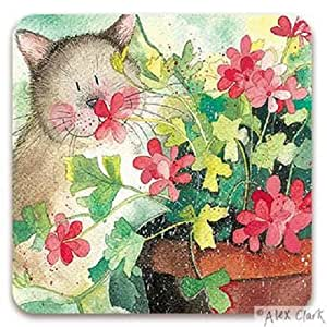 Alex Clark-Dessous-de-verre en bois Motif Polly le chat