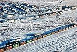 ZZXSY Puzzles De Madera 1000 Piezas Ferrocarril Cubierto De Nieve Churchill Manitoba Canadá Apto