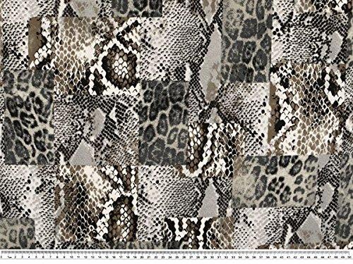ab 1m: Ausgefallener Viskose-Jersey, Tierfellmuster, 150cm breit