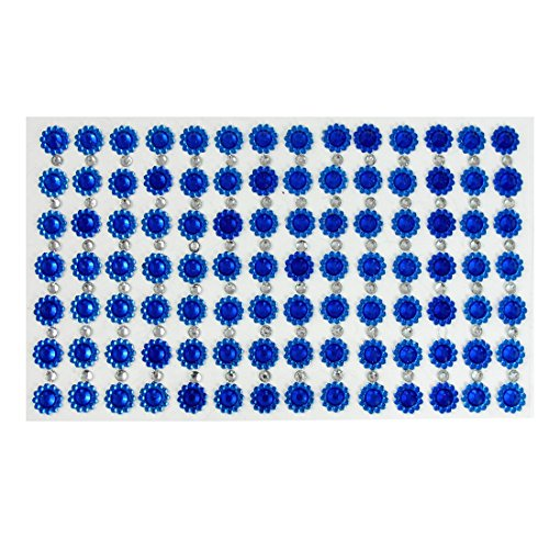 Tone Sonnenblume (Handy-blaue Sonnenblume Silber Ton Strass DIY Aufkleber)