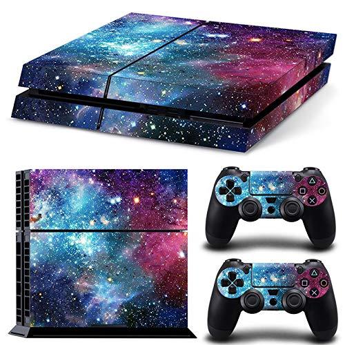 Playstation Konsole und 2 Controller PS4 - Starry Galaxy Skin Sticker Galaxy Skin