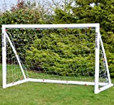 "WOLLOWO Football Goal ""Lock Together Model"" White UPVC Posts Soccer Training Net"