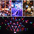 Disco Lights, Disco Party Ball Lights Upgraded 4 Colours RGBP Party Lights Strobe Lights , Support Bluetooth/USB/Line In/TF Card Mode Music Playback LED Stage Lights for Birthday Parties Pub Indoor Decoration Wedding Celebration KTV Bar