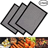 FANSIR Grill Mesh Mat, Set of 3 Non Stick BBQ Cooking Mat Reusable