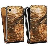 DeinDesign Apple iPhone 3Gs Étui Étui à Rabat Étui magnétique Look Bois de ronce