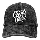 Zhgrong Caps Baseball Jeans cap Good Vibes Only Men Women Golf Hats Adjustable Dad Hat Mesh cap