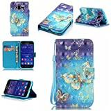 C-Super Mall-UK Samsung Galaxy Core Prime (SM-G360F) Case, Exquisite three-dimensional painted patterns PU