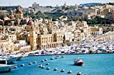 lunaprint City Harbor and Seaside View of Malta Europe Home