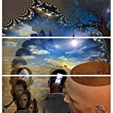 ArtzFolio Strange Scene Split Art Painting Panel on Sunboard 18 x 18.2inch