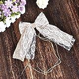 LianLe 10 Stk Jute Schleife Geschenkschleife Geschenkband Leinen für Hochzeit/Party/Hotel/Hussen Deko 21*11cm (Mit Lace)