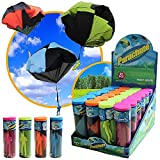 #9: Imported Tangle Free Toy Hand Throwing Parachute Kite Outdoor Play Game Toy Fuchsia
